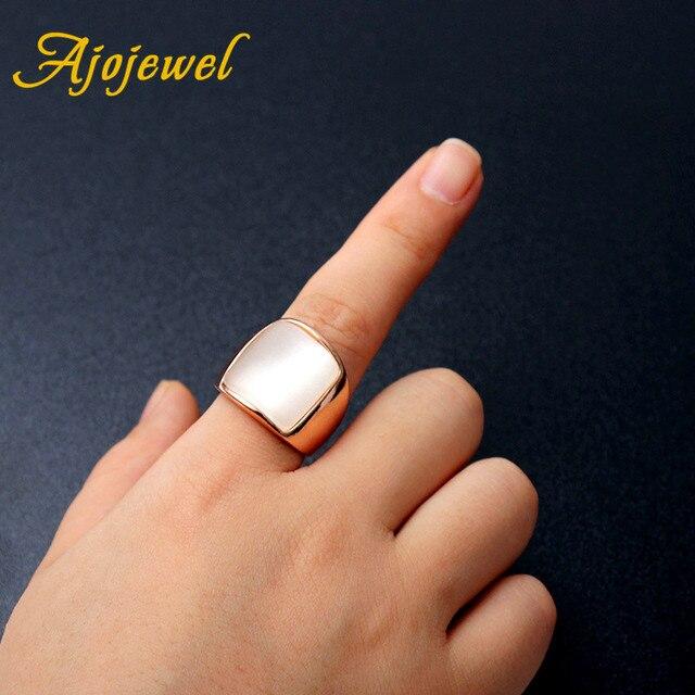 Ajogem taille 7-9 mode classique concepteur grand unique opale pierre anneau pour hommes nouveau Punk déclaration bijoux
