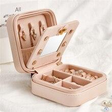 Jewelry Box Travel Comestic Jewelry Casket Organizer Makeup Lipstick Storage Box Beauty Container Necklace Birthday Gift