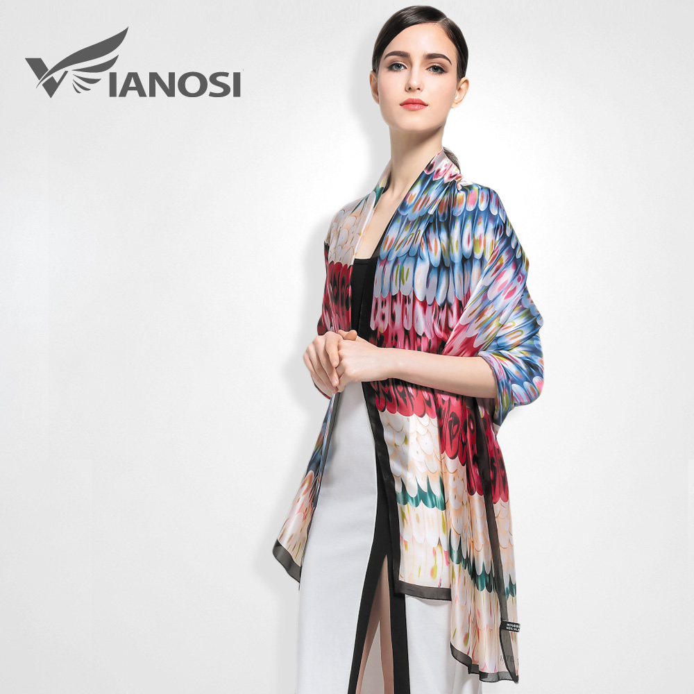 VIANOSI Shawls for Women Design silk Scarf Style Bandana