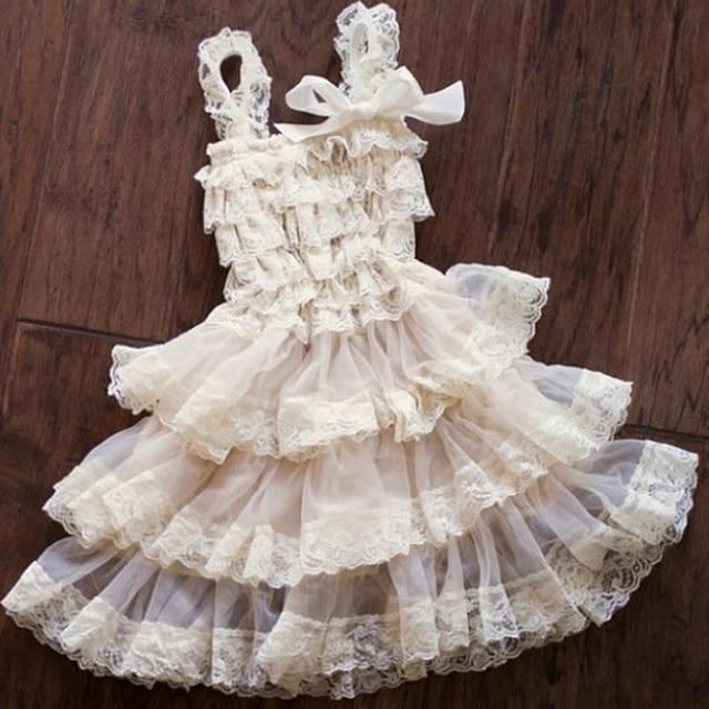 60481f236b71 Baby Girl Lace Ruffle Dress