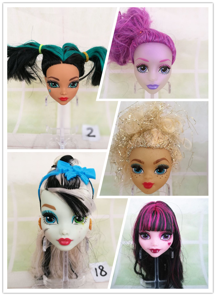 Free Shipping Original High Quality ever after Dolls Heads Doll Accessories Heads For Monster toys gift