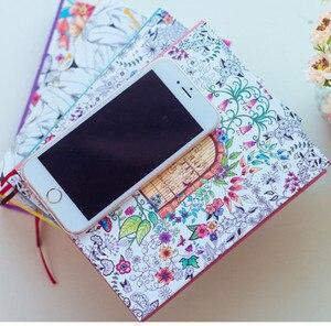 Image 3 - 2019 Kawaii Leuke Koreaanse Bloemen Printing Boek Kleurrijke Bloem Lijn Notebook Hardcover Persoonlijke Journal Zuivel Sketchbook Voor Meisjes
