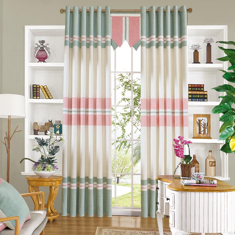 cortinas de saln comedor dormitorio simplicidad moderna coreana franja de costumbre se convirti en wan esttica