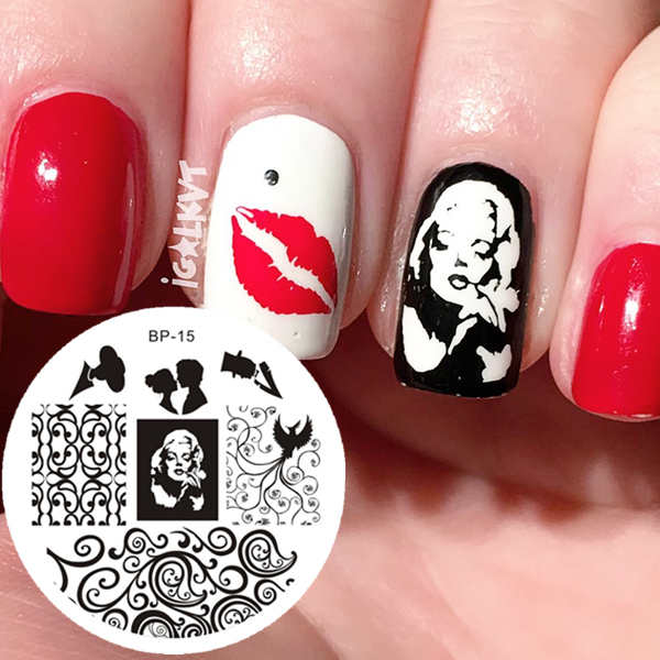 Marilyn Monroe Wzór Nail Art Stamp Szablon Plate Obraz Urodzony Dość