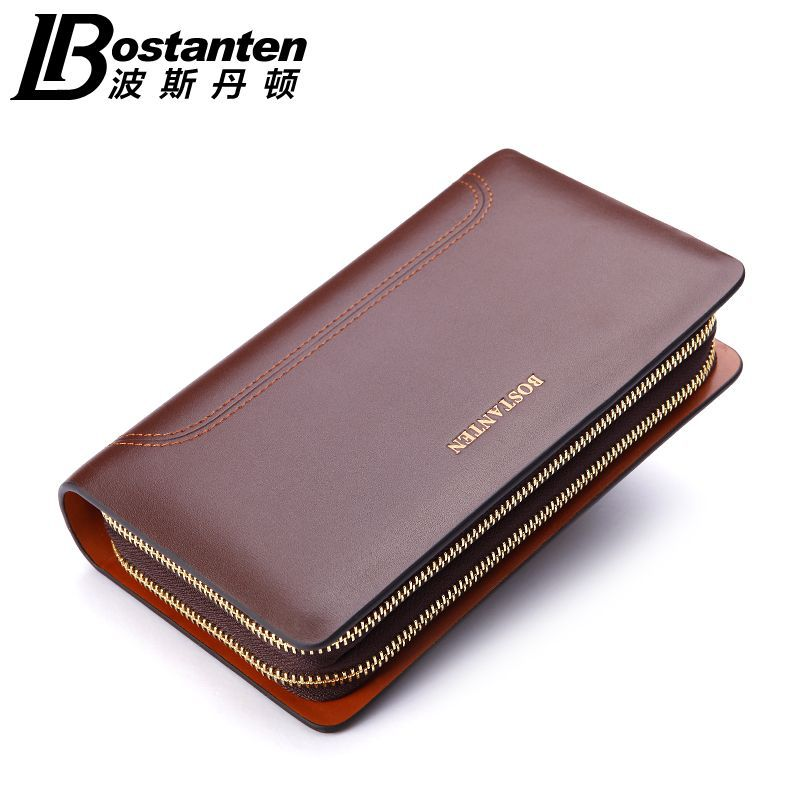 Free Shipping New Men's Genuine Leather Fashion casual Zipper Large capacity Long design cowhide Wallet Hand Bag Clutch Purse zuoyi crocodile leather original zipper snap multifunctional in large capacity and long wallet