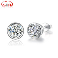 SDA Genuine100 Real Pure 925 Sterling Silver Earrings 2 Colors Beautiful New Arrival Top Quality Wholesale
