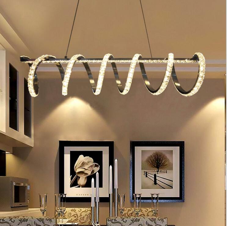Postmodern light luxury crystal chandelier creative led living room lamp simple atmosphere warm bedroom dining room