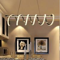 Postmodern light luxury crystal chandelier creative led living room lamp simple atmosphere warm bedroom dining room chandelier