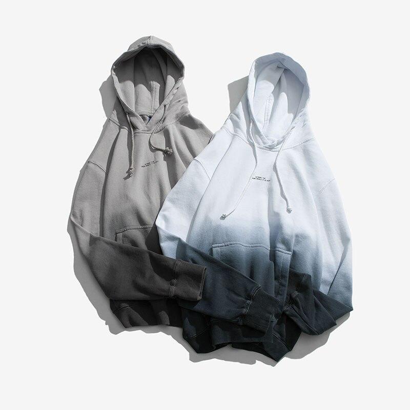 De Bolsillo Casual Streetwear Japoneses Hombres Gray Con Sudaderas Algodón La white Sudadera Hop Jersey Calle Moda Hip Los Capucha Gradiente Primavera Aolamegs ZatwTx