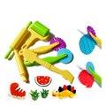 6PCS Polymer Clay Playdough Molds Intelligent Plasticine Mold Mould Handgum Tools Plasticine-Play-Doh  Fimo Polymer Clay Kid Toy