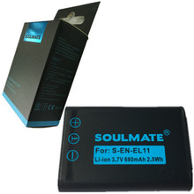 SOULMATE EN-EL11 lithium batteries pack EN EL11 Digital Camera Battery ENEL11 LI-60B D-Li78 For Nikon D40 D40X D60 D3000 D5000