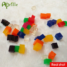 New 50pcs 3d 5x5x5 square crystal soil hydrogel water beads for flower orbiz orbits growing jelly balls in toy set orbis