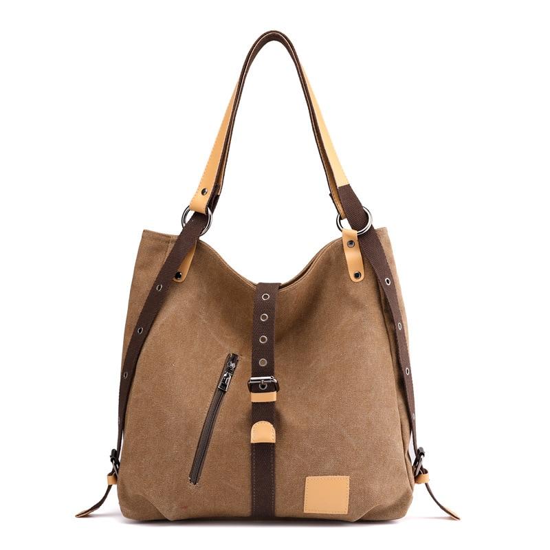 Canvas  Handbags Hobos Shoulder Bags Vintage Female Crossbody Bag Ladies Casual Tote Bolsas Feminina