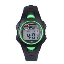 New Arrival Children Girls Boys Watch Digital Display Alarm Sports Wrist Watch Electronic Rubber 5 Colors Kids Watch