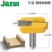 Cleaning Bottom Router Bits with 1/2 Shank,2 3/16 Cutting Diameter for Surface Planing Router Bit