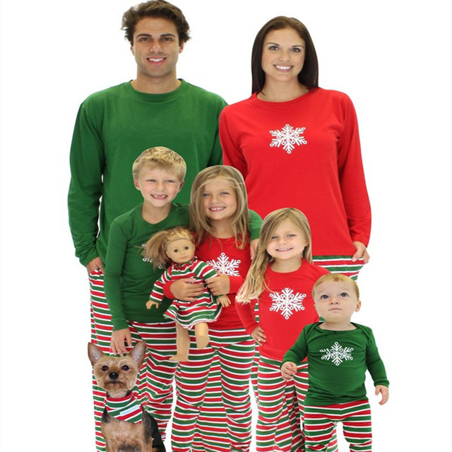 07f64bd38 Christmas Family Matching Pajamas Mom Boys Father Son Matching ...