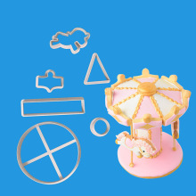 Rotating Small Horse Silicone Mold Fondant Mould Cake Decorating Tools Chocolate Sugarcraft Kitchen Accessories