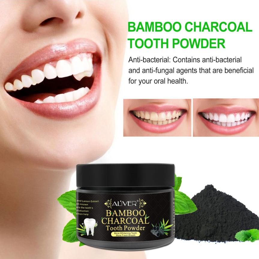 Aliver Teeth Whitening Powder Natural Activated Charcoal Whitening