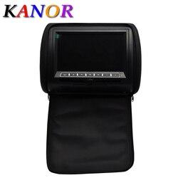 2 Stücke Auto Kopfstütze DVD Player Schwarz Grau Beige Universal Digital  Bildschirm Reißverschluss Auto Monitor USB FM TV Spiel DVD Encosto De Cabesa