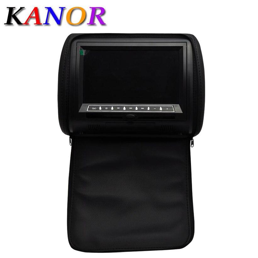 kanor auto kopfsttze dvd player schwarz grau beige universal digital bildschirm reiverschluss automonitor usb fm
