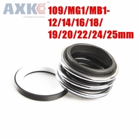 AXK   Inner Dia Single Coil Spring Mechanical Seal 109/MG1/MB1 12/14/16/18/19/20/22/24/25mm|Gaskets| |  -