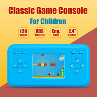 298 Games Pocket Hand Held Classic Game Console With 2 4 Color Screen Learning Toys For