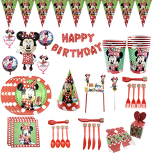 Minnie mouse party decorations kids birthday supplies tablecloth banner cup plate Balloons Gift Baby Shower