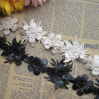 Free Shipping DIY Handmade Collar Clothes Accessories Pearl Beaded Decoration Lace Trim Dress Flower Leather Lace