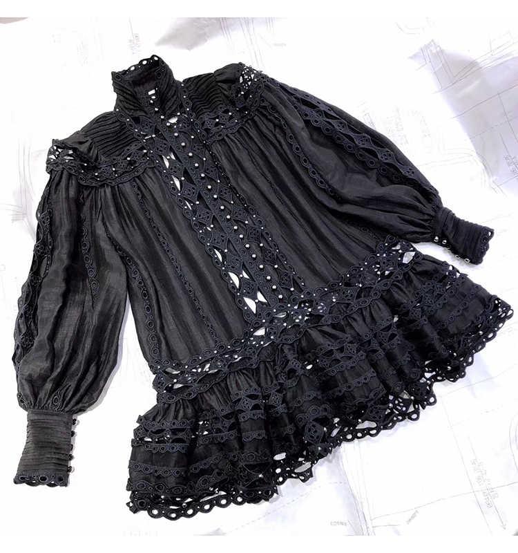 Truevoker Европа Подиум дизайнер вокация платье для отдыха женские длинный рукав вышивка выдалбливают заклепки сексуальные вечерние Клубные Vestidoes