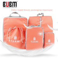 BUBM 5 Sets Packing Cubes For Travel Luggage Organizer For Clothing Laundry Bag Toiletry Bags For