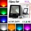 12X Led Flood Light RGB 10W 20W 30W 50W Led Floodlights Waterproof Led Outdoor Lights Color
