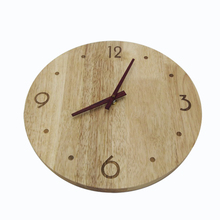 12″ Circle Uncommon Handmade Modern Solid Wood OAK Wall Clock With Oak Hands Non-Ticking Sound