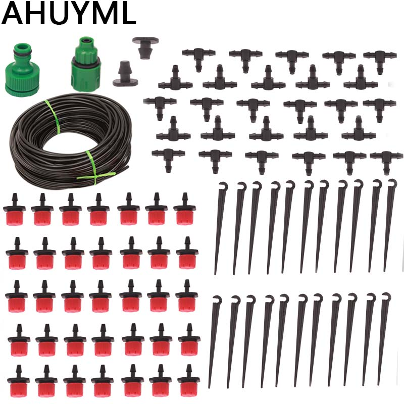 25M DIY Drip Irrigation System Automatic Watering Garden Hose Micro Drip Garden Watering Kits With Adjustable Drippers