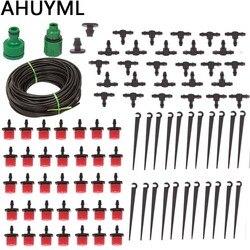 25M DIY System nawadniania kropelkowego automatyczne wąż ogrodowy do podlewania Micro Drip ogród podlewanie zestawy z regulowany kroplownik