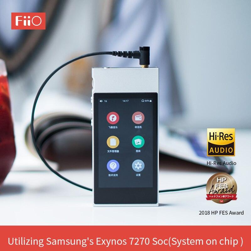 FiiO Metal Case M7 Bluetooth 4.2 aptX-HD LDAC Hi-Resolução da Tela de Toque LCD Mini Música MP3 jogar com Rádio FM (Preto/Vermelho/Azul/Prata)