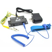 Wired anti-static Bracelet Wrist Strap alarm on-line monitor