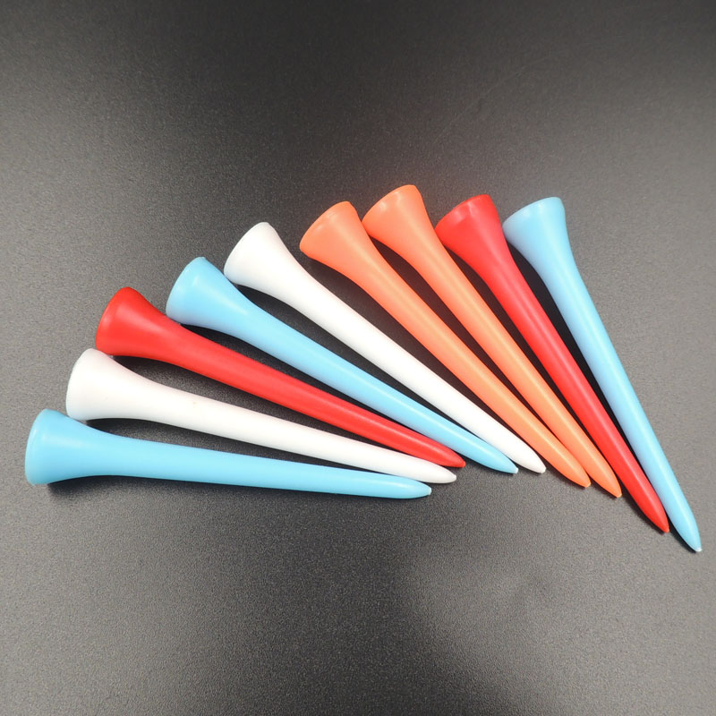 100 Pcs/Pack Mixed Color 42mm/54mm/70mm/83mm Professional Zero Friction Durable Plastic Golf Tees Golf Accessories