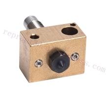 Hardened Steel V6 Nozzle + Brass Heater Block + Titanium Alloy Heat Break High Temperature Upgrade Kit for V6 HOTEND Titan