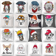 Hot sale beauty cute animal  pattern pillow cases square home creative color cover 45*45cm
