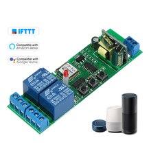 2CH AC85 250V Interruptor Do Temporizador Sem Fio Controle Remoto APLICATIVO de Telefone Inteligente Wifi Módulo Interruptor de Automação Universal para Smart Home