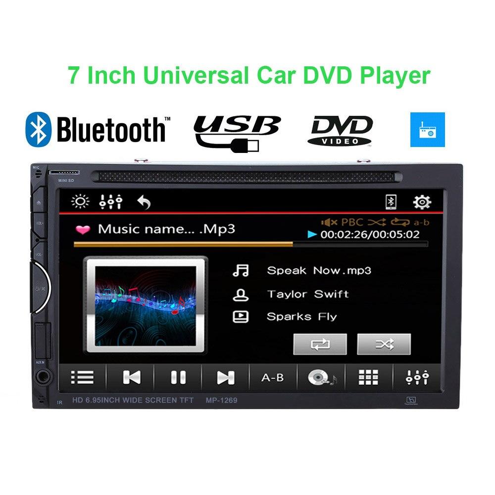 Best 7 Inch 2 Din Car DVD Player UI BT Multimedia Car Audio Entertainment for VW BMW Frod Toyota