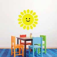 T08009 Детская комната Наклейка на стену смайлик солнце экологически чистые наклейки на стену в детскую виниловую наклейку s домашний Декор ук...