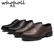Whoholl Men Shoes Patent Leather Moccasin Loafers Designer Slip on Flat Boat Male Classical Chaussure Homme Size 38-44 New