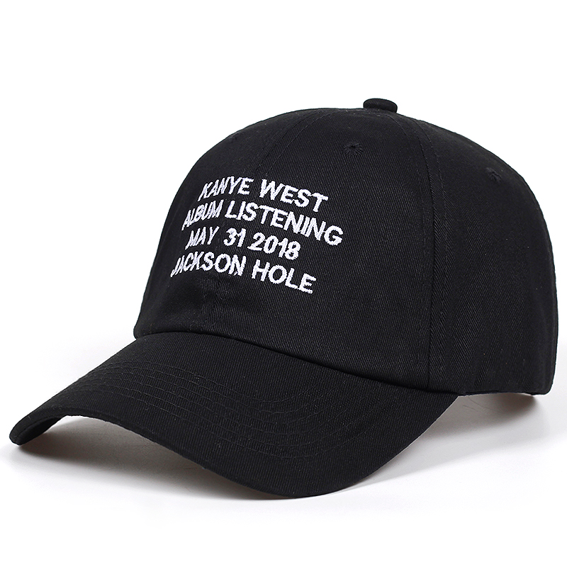 47cc94ef321e53 kanye west album listening may 31 2018 jackson hole dad hat Cotton Baseball  Cap Men Women Hip Hop Snapback golf Cap hats Bone-in Baseball Caps from  Men's ...