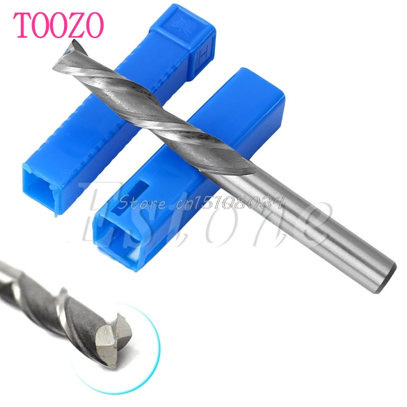 Hot Extra Long 6mm 2 Flute HSS & Aluminium End Mill Cutter CNC Bit Extended #S018Y# High Quality 3 175 12 0 5 40l one flute spiral taper cutter cnc engraving tools one flute spiral bit taper bits
