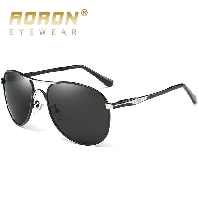 d0aaa929b60 2018 AORON Men Alloy Sunglasses Women Brand Original Polarized Glasses  Luxury Mirror Fashion Coating Eyewear UV400 Goggle Ocolos