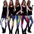 2016 fashion Black Milk Women leggins 3D Digital Galaxy Print Leggings Adventure Time Fitness ladies Leggings Causal Pants