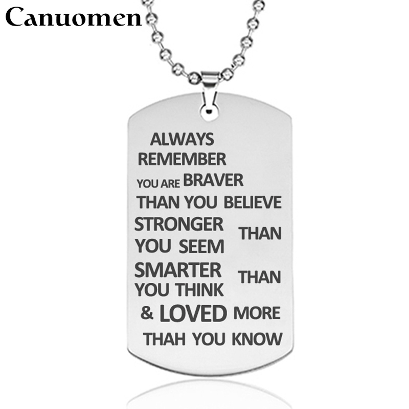 Always Remember You are Braver Than You Believe Jewelry Pendant Necklace Insp...