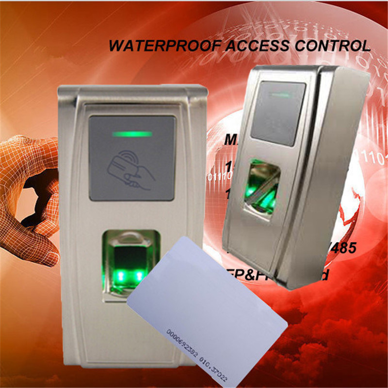 IP65 waterproof fingerprint time attendance access control and with card reader with free software and SDK f3 finger pin free shipping fingerprint access control reader with keypad waterproof structure design ip65 waterproof