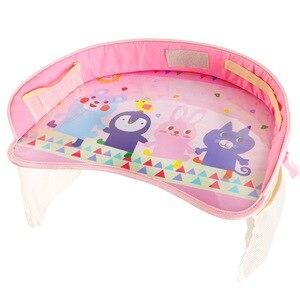 Image 3 - 車のベビーシートテーブルポータブル多機能漫画ベビー子供子供車の安全座椅子トレイのおもちゃ食品ドリンク携帯電話ホルダー